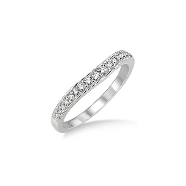 1/5 Ctw Round Cut Diamond Wedding Band in 14K White Gold by ido Collection