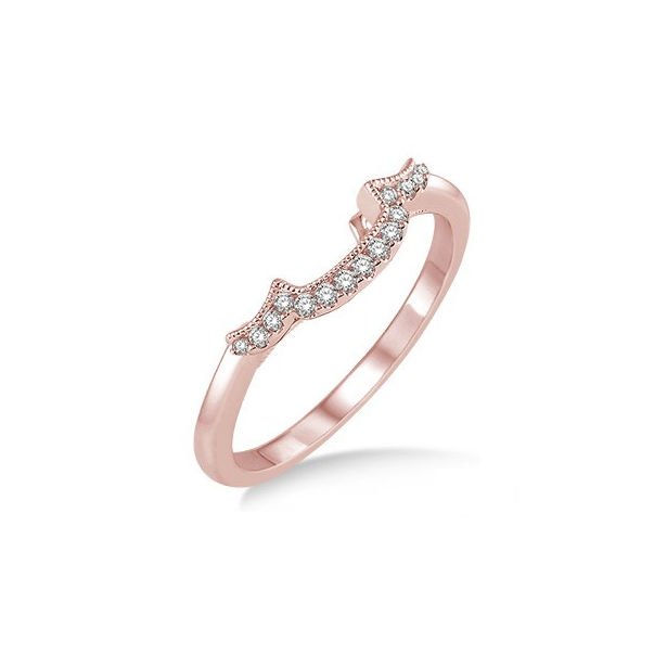 1/10 Ctw Round Cut Diamond Wedding Band in 14K Pink Gold by ido Collection