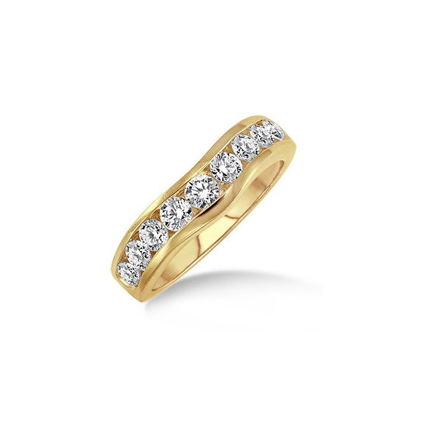 1 Ctw Round Cut Diamond Matching Wedding Band in 14K Yellow Gold by ido Collection