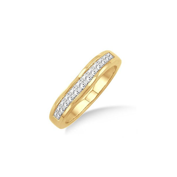 1/2 Ctw Princess Cut Diamond Matching Wedding Band in 14K Yellow Gold by ido Collection