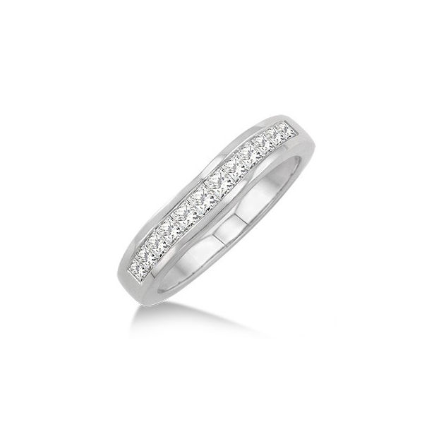 1/2 Ctw Princess Cut Diamond Matching Wedding Band in 14K White Gold by ido Collection