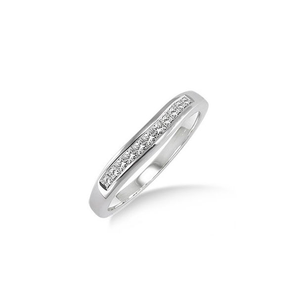 1/4 Ctw Princess Cut Diamond Matching Wedding Band in 14K White Gold by ido Collection