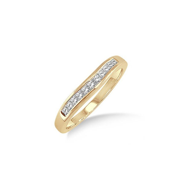 1/4 Ctw Princess Cut Diamond Matching Wedding Band in 14K Yellow Gold by ido Collection