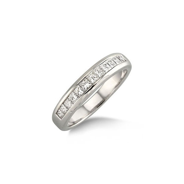 3/4 Ctw Princess Cut Diamond Wedding Band in 14K White Gold by ido Collection