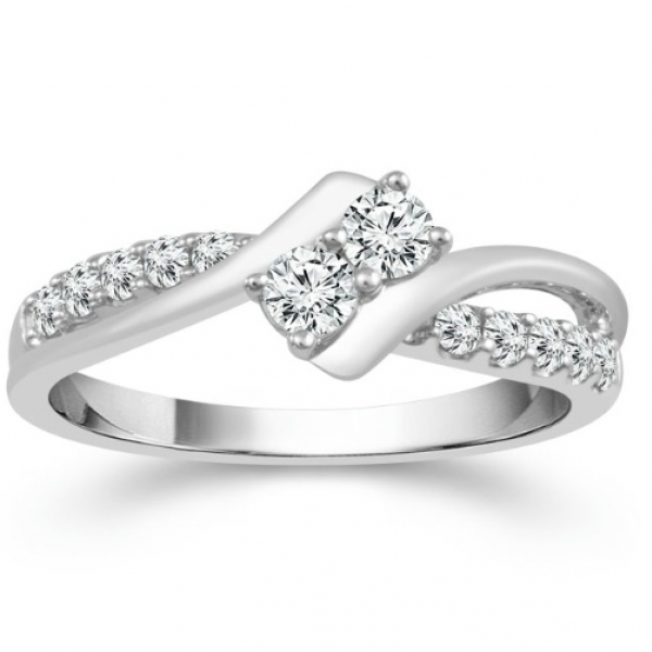 2 Carat Diamond 14 Karat White Gold Ring From The 2BeLoved Collection by 2beLoved