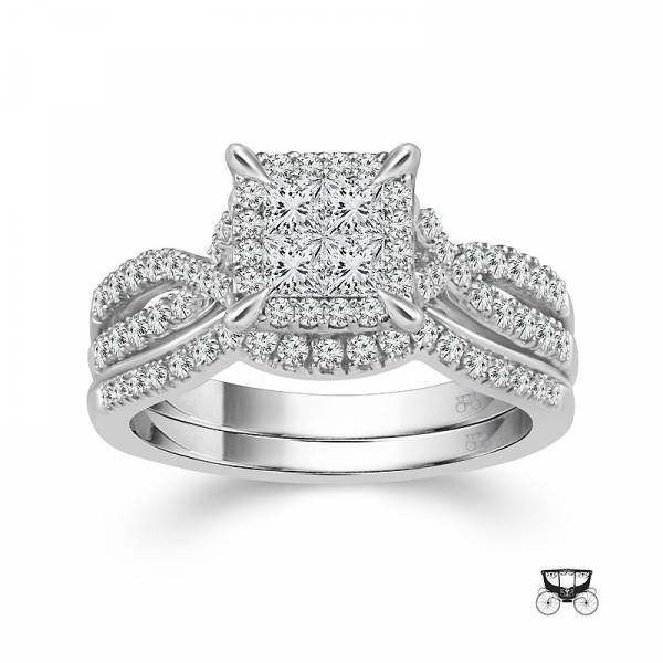 1.0 Carat Diamond 2 Piece Wedding Set From The Fairytale Collection by Fairytale