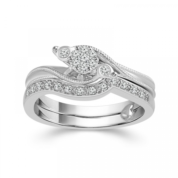 1/5 Carat Diamond Bridal Set From The True Promise Bridal Collection by True Promise