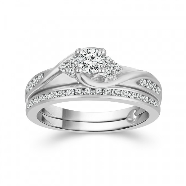 1/2 Carat Diamond Bridal Set From The True Promise Bridal Collection by True Promise