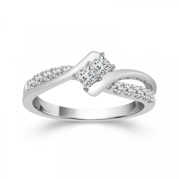 1/2 Carat Diamond 14 Karat White Gold Ring From The 2BeLoved Collection by 2beLoved
