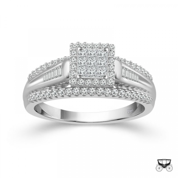 1/2 Carat Diamond Wedding Ring From The Fairytale Collection by Fairytale