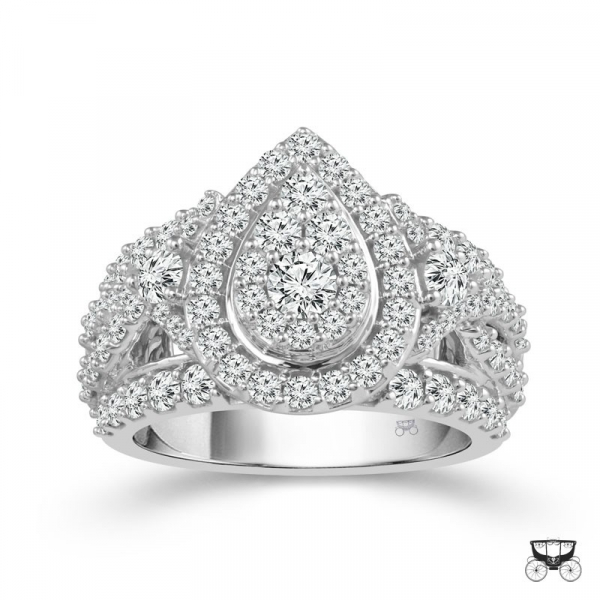 2.25 Carat Diamond Wedding Ring From The Fairytale Collection by Fairytale