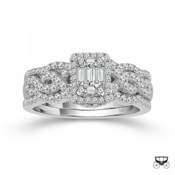 1.50 Carat Diamond Wedding Set From The Fairytale Collection by Fairytale