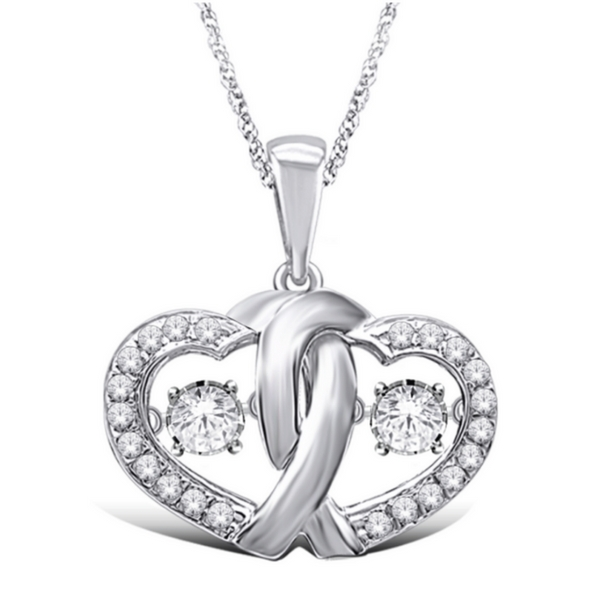 10K WHITE GOLD 1/5 CTW YOU & ME ROCK N