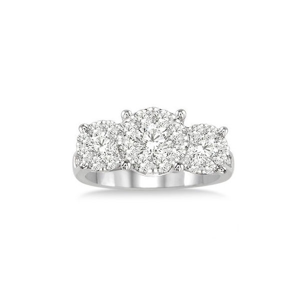 2 Ctw Lovebright Round Cut Diamond Ring in 14K White Gold by Lovebright
