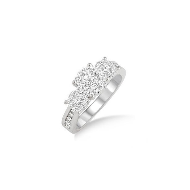 1/2 Ctw Lovebright Round Cut Diamond Ring in 14K White Gold by Lovebright