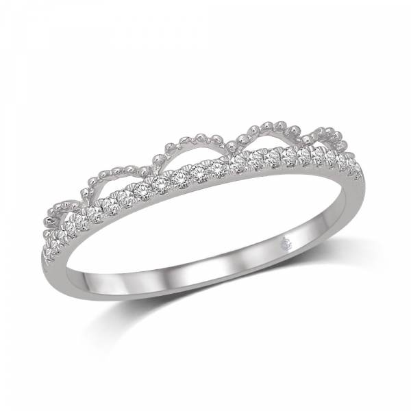 14K WHITE GOLD .10ctw DIAMOND STACKABLE BAND by Stackables