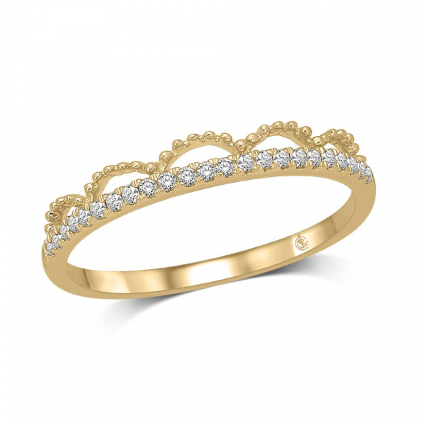 14k Yellow Gold .10ctw Diamond Stackable Band by Stackables