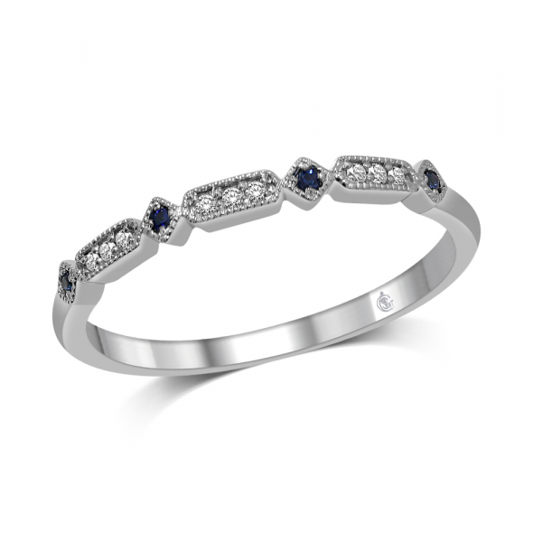 14K WHITE GOLD .06ctw DIAMOND STACKABLE RING by Stackables