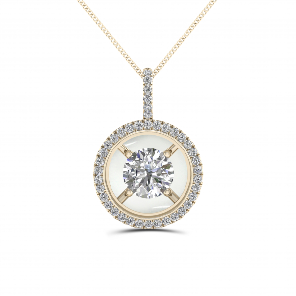 14K YELLOW GOLD .40 ctw DIAMOND FASHION PENDANT by Magnificence