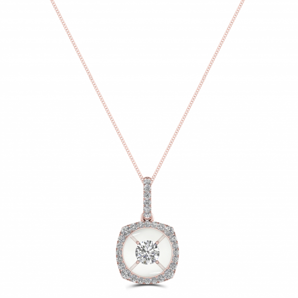 14K ROSE GOLD .33ctw DIAMOND FASHION PENDANT by Magnificence