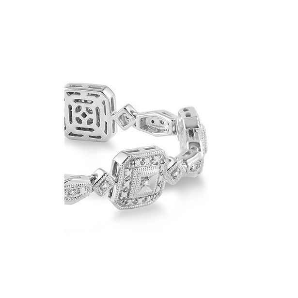 1/6 Ctw Square Shape Single Cut Diamond Tennis Bracelet in Sterling Silver by Daphne Diamond