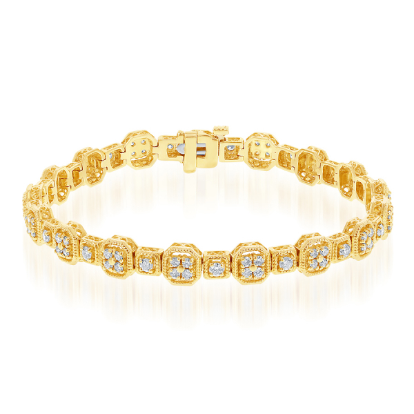 14k Yellow Gold 2ctw Diamond Bracelet  by Jewels By Jacob