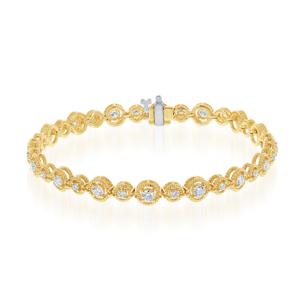 14k Yellow Gold 2.04ctw Diamond Bracelet  by Jewels By Jacob