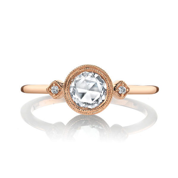 .52 Carat Vintage Lumiere Round Engagement Ring by Lumiere Bridal