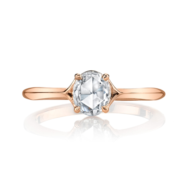 .50 Carat Vintage Lumiere Oval Diamond Engagement Ring by Lumiere Bridal