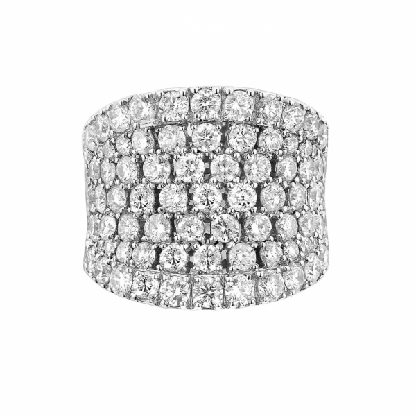 5 Carat 5 Diamond Fashion Ring set in 14k White Gold by KALLATI