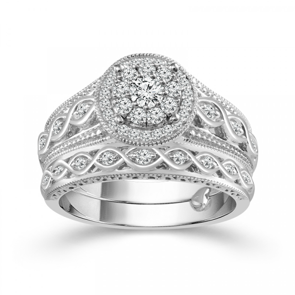 .38ctw Diamond Bridal Set  by True Promise