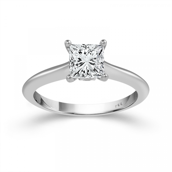 1/2 CTW Princess Cut Diamond Engagement Ring by Cien Amore