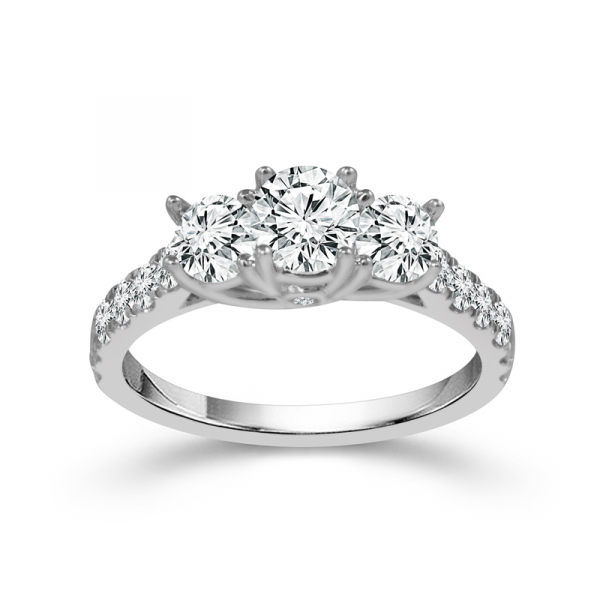 1CTW Three Stone Round Diamond Engagement Ring  by Three Stone Diamond Engagement Rings