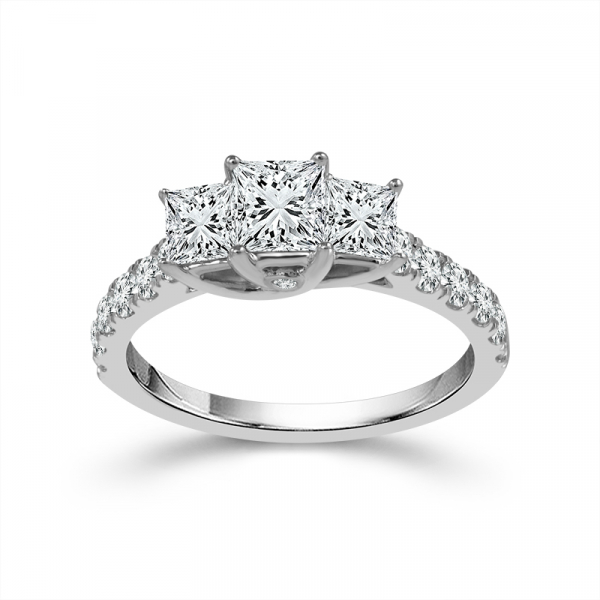 1/2 CTW Princess Cut Three Stone Diamond Engagement Ring by Three Stone Diamond Engagement Rings