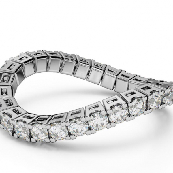ETERNAL SPRYNGS 14k WG 1CT DIAMOND BAND by Brevani Spryngs
