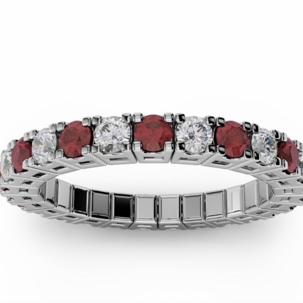 1/2 CARAT ETERNAL SPRYNGS DIAMOND/RUBY BAND by Brevani Spryngs
