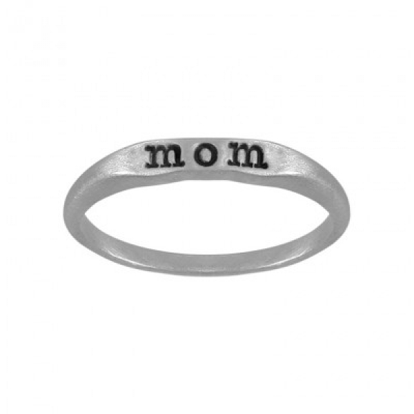 Sterling Silver Mom Ring by Slate and Tell