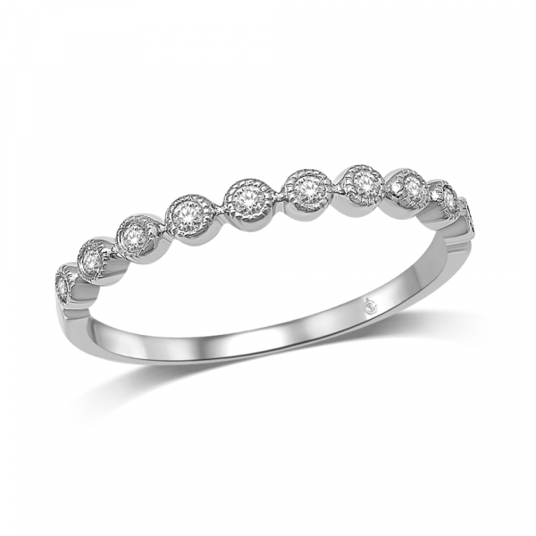 14K WHITE GOLD .14ctw DIAMOND STACKABLE BAND by Stackables