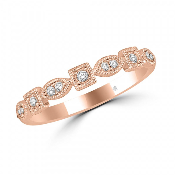 14K ROSE GOLD .16ctw DIAMOND STACKABLE BAND by Stackables