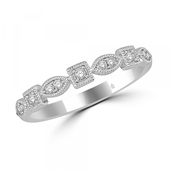 14K WHITE GOLD .16ctw DIAMOND STACKABLE BAND by Stackables