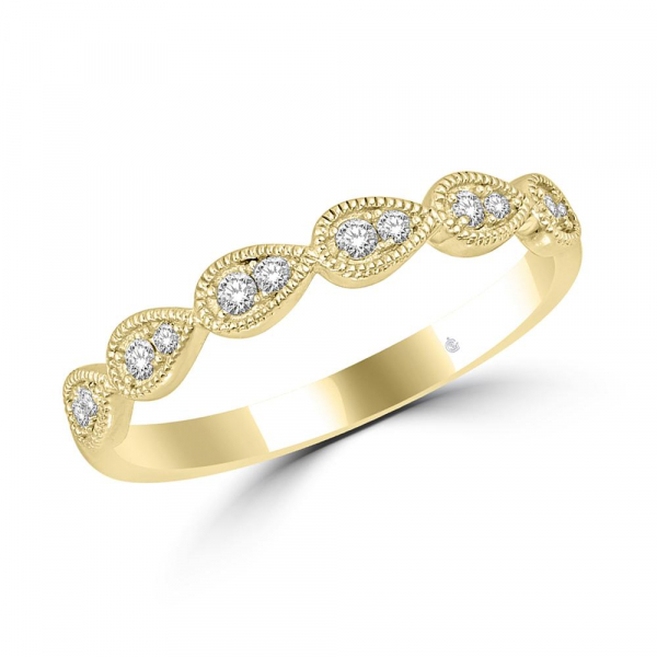 14k Yellow Gold .09ctw Diamond Stackable Band by Stackables