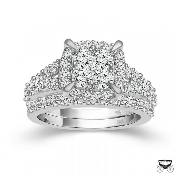 2 Carat Diamond 2 Piece Wedding Set From The Fairytale Collection by Fairytale