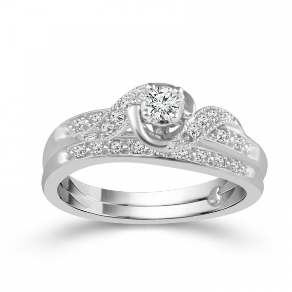 1/4 Carat Diamond Bridal Set From The True Promise Bridal Collection by True Promise