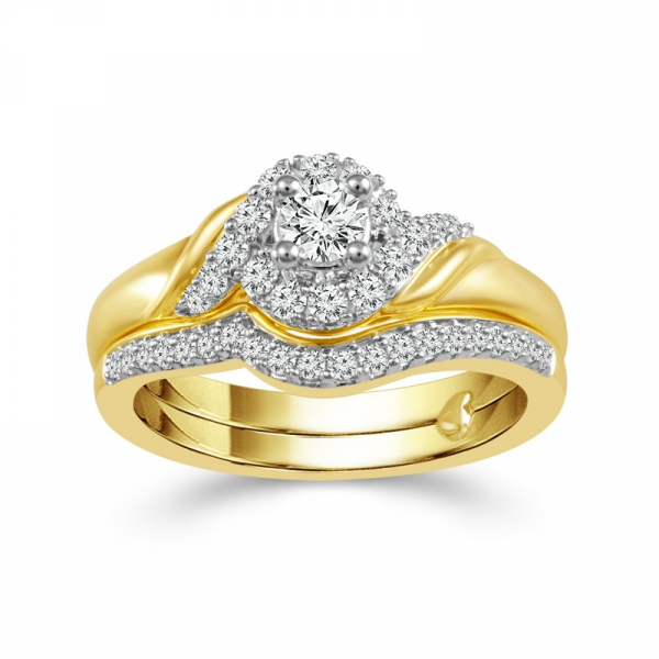 1/2 Carat Diamond 14K Yellow Gold Bridal Set From The True Promise Bridal Collection by True Promise