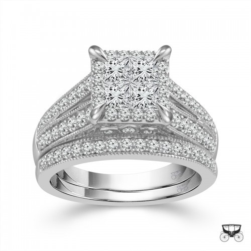 1.5 Carat Diamond 2 Piece Wedding Set From The Fairytale Collection by Fairytale