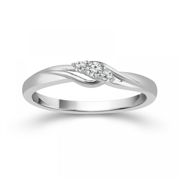 0.09 Carat Diamond Sterling Silver Promise Ring From The True Promise Collection by True Promise