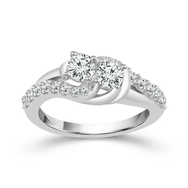 1/2 Carat Diamond 14K White Gold Ring From The 2BeLoved Collection by 2beLoved