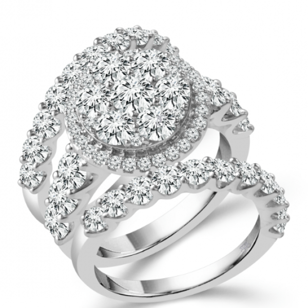 4.5 Carat Diamond 3 Piece Wedding Set With 2 Bands From The Fairytale Collection by Fairytale